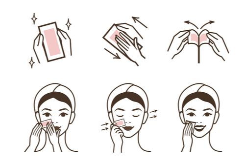 Animation showing how to use wax strips.