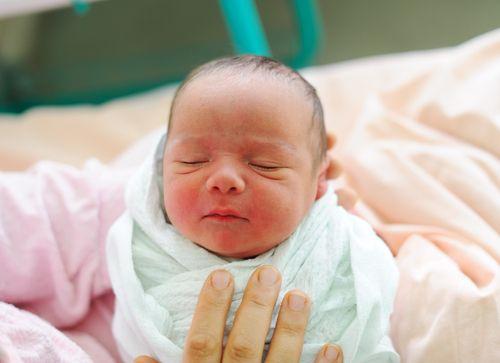 Adorable Asian baby born.
